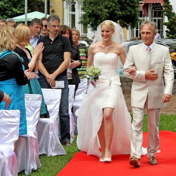 Hochzeitsfotografie roter Teppich